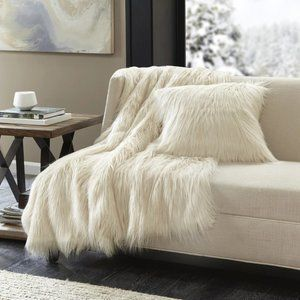 New Madison Park Long Faux Fur Throw